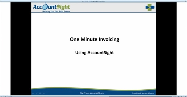 Online Invoicing in One Minute!
