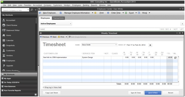 QuickBooks Time Tracking | Integrate AccountSight Time