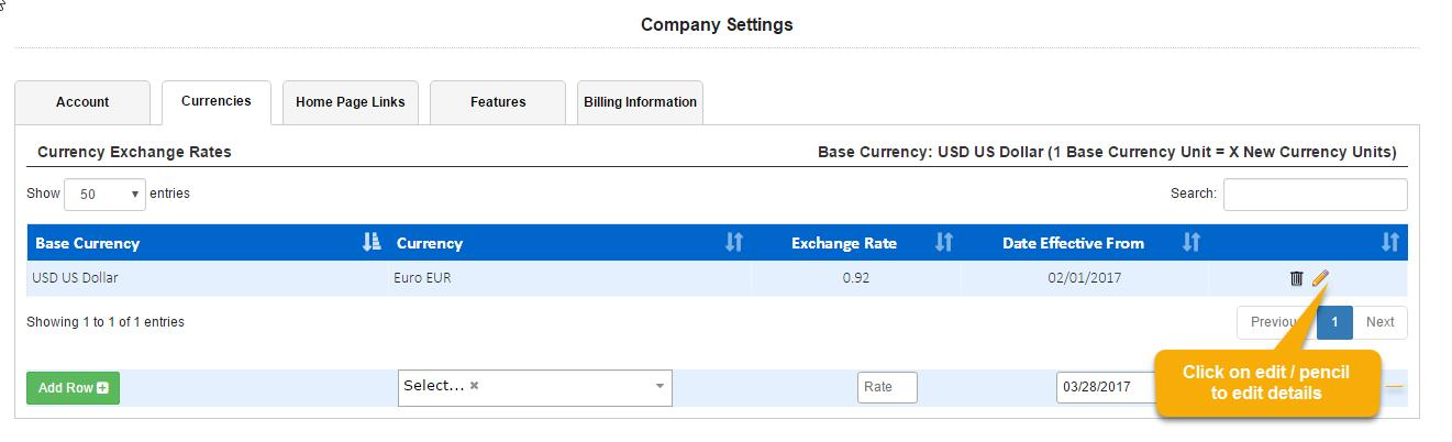 Expenses and Reimbursements in Multiple Currencies