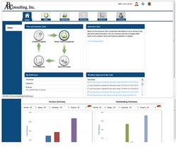 AccountSight online time tracking and billing software version 2.10
